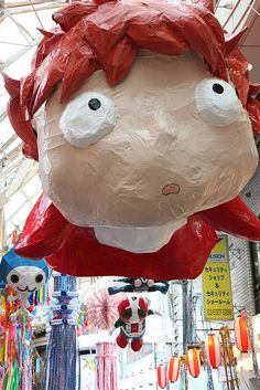 Possible piñata for Sassa's Ponyo birthday party?