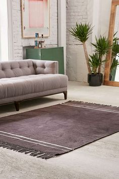 Shop Luna Chenille Stripe Rug at Urban Outfitters today. We carry all the latest styles, colors and brands for you to choose from right here. Home Decor Sale, Home Decor Items, Urban Outfitters, 5x7 Rugs, Apartment Essentials, European Home Decor, Chenille, Beautiful Living Rooms, Striped Rug