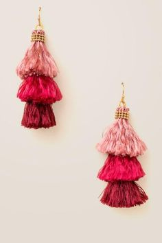 I'm in love with these Kesha Multi Colored Tassels Earrings, and they're less than $25! #gifts #giftsforher #valentines #earrings #tassel #Valentinesideas #giftideas #affiliate