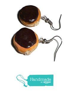 Chocolate Cream Filled Fake Food Polymer Clay Doughnut Earrings from UniversalCreations https://www.amazon.com/dp/B01MSS555N/ref=hnd_sw_r_pi_dp_UtVoybXT6ZB2X #handmadeatamazon