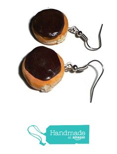 Chocolate Cream Filled Fake Food Polymer Clay Doughnut Earrings from UniversalCreations https://www.amazon.com/dp/B01MSS555N/ref=hnd_sw_r_pi_dp_UtVoybXT6ZB2X #handmadeatamazon