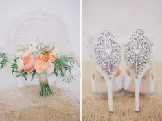 Bridal Bouquet Flowers (pink and peach wildflowers)