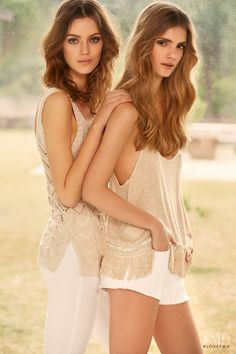 Esther Heesch and Emily Astrup featured in  the Lefties Bohemian Spirit catalogue for Summer 2015