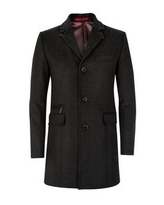 Wool mix coat - Charcoal | Jackets & Coats | Ted Baker
