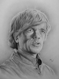 Graphite Pencil Drawing of Tyrion Lannister by Miroslav Sunjkic #gameofthrones #tyrion #lannister #realistic #pencil #drawing #portrait #graphite #art #artwork #pencilmaestro
