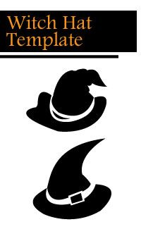 Witch Hat Template Halloween Window Decoration