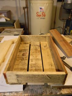 "centerpiece boxes from pallets, before the antiquing.  Wheee!   pinned to ""It's a Pallet Jack"" by Pamela"