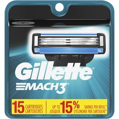 Gillette Mach3 Men's Razor Blade Refills, 15 Count (Packaging May Vary), Mens Razors / Blades         * Find out more about the great product at the image link. (This is an affiliate link) #BeautyPersonalCare