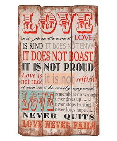 Another great find on #zulily! 'Love is Patient' Wall Sign #zulilyfinds