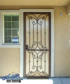 Beautifully Scrolled Wrought Iron Security Screen Door - SD0193 ...obsessed with having one of these.