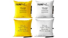 NoteMe Post-It Note Pillows. Whoa!