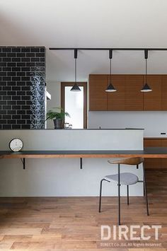 Y HOUSE(住宅)の施工事例 Counter Design, My Ideal Home, Natural Interior, Living Room Kitchen, Home Renovation, Home Projects, Home And Living, Furniture Decor, Home Kitchens