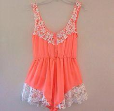Lace Stitching Jumpsuits