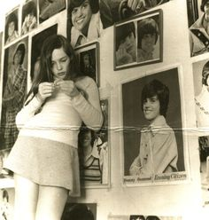 """""""That's me in my Donny Osmond phase. I must be 11 or 12 years old. I hope you appreciate the artistic arrangement of Donny Osmond posters."""" – Jill Bryson of Strawberry Switchblade Photos Du, Old Photos, Vintage Photos, Antique Photos, Mazzy Star, 70s Aesthetic, The Osmonds, Donny Osmond, Girly"""