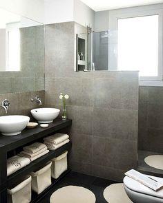 Bathroom - Interior designs for your home Modern Shower, Modern Bathroom, Small Bathroom, Master Bathroom, Bathroom Hacks, Ensuite Bathrooms, Bathroom Storage, Bathroom Ideas, Countertop Basin