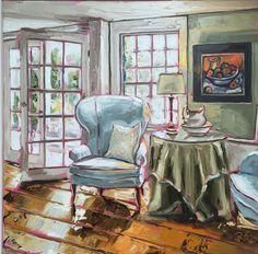 Cider house rules by Róisín O'Farrell Oil on Canvas 60x60cm