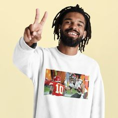 Winfield Jr Taunts Tyreek SB LV Memories Unisex Heavy   Etsy Eric Dunn, Clothes With Quotes, Comfy Hoodies, Streetwear Fashion, Really Cool Stuff, Crew Neck Sweatshirt, Jr, Memories, In This Moment