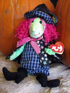 NWT Scary Witch Ty Beanie Babies Autumn Halloween Plush Home Decor 2000 Retired  #Ty