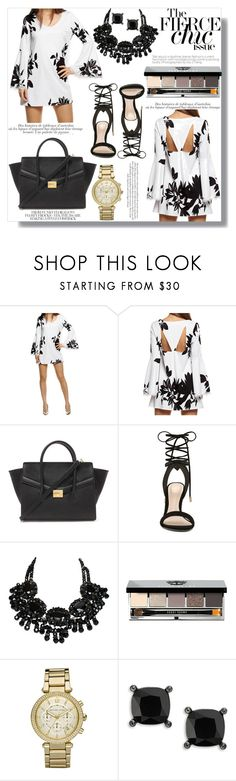 """""""Women who wear BLACK lead colorful lives"""" by xwafflecakezx ❤ liked on Polyvore featuring Forever 21, ALDO, Bobbi Brown Cosmetics, Michael Kors and Lauren Ralph Lauren"""