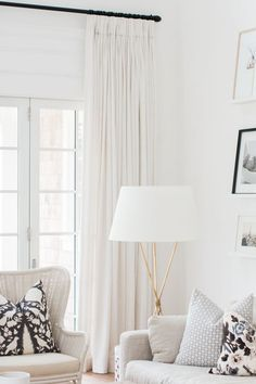 Belgian linen curtains, custom made. Loving the neutral space...and our Linen Curtains in Off White... White Linen Curtains, Black Curtains, Drapes Curtains, Pinch Pleat Curtains, Sliding Door Curtains, Country Curtains, Winter Living Room, Living Room Decor, Living Room Drapes