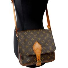 5d243df2501b LOUIS VUITTON Monogram CARTOUCHIERE MM Vintage Authentic M51253 Shoulder Bag   LouisVuitton  ShoulderBag Louis Vuitton