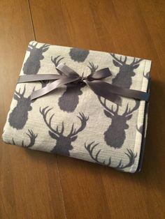 SALE Woodland Deer Flannel Baby/Toddler by DefinitelyBabyShop