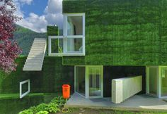 Single family home in Frohnleiten 5 Synthetic Grass Covered Volumes Adorned With Unusual Details
