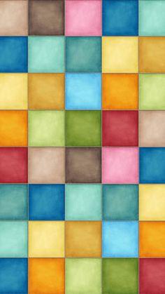 Pastel squares Mobile Wallpaper 5131
