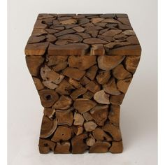 Teak Wood Resin Foot Stool
