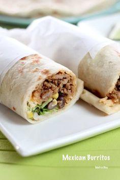 メキシカンブリトー - マイティの Awesome Cooking Mexican Burritos, Fresh Rolls, Tacos, Bread, Cooking, Ethnic Recipes, Food, 300g, Favorite Recipes