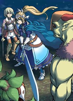 Lest and Forte from Rune Factory 4.