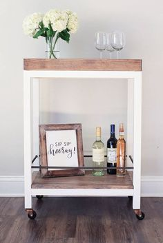 How to build a DIY Bar Cart - Free Woodworking Plans – HandmadeHaven