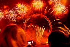 London Eye fireworks for New Year's Eve. Photo by Natesh Ramasamy