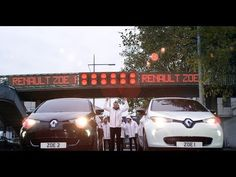 Life Size Scalextric with Renault ZOE Electric Cars - YouTube