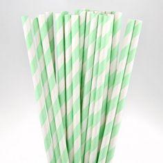 Les 25 pailles à rayures (13 coloris)