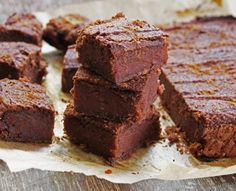 Sweet Potato Brownies - more like energy bars than brownies but still a great snack, just not super chocolaty or sugary. I pulsed the almonds so there were some crunchy pieces and steamed the dates first to soften them