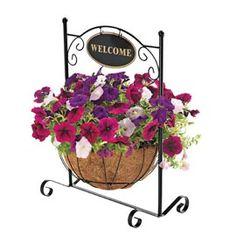 Welcome Stand Basket, Coir Fiber Basket, Decorative Plant Stand | Solutions