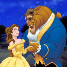 Beauty and the Beast. What I say our Disney characters are. Haha.