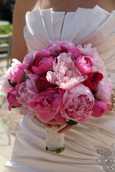 The Stunning Pink Peony Wedding Day of Lisa  Bouquet