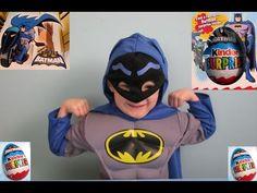 Easter large Kinder Egg Batman Edition. Oskar-Batman saves the day - YouTube