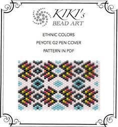 Pattern, peyote pen cover Ethnic colors, peyote pattern for pen wrap - peyote…