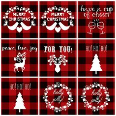 Items similar to Merry Christmas - Red and Black Plaid Digital Printable Holiday Gift Tags on Etsy Christmas Gift Tags Printable, Holiday Gift Tags, Christmas Printables, Black Christmas, Christmas Tag, Farmhouse Christmas Ornaments, Christmas Tree Themes, Christmas Crafts, Bridal Shower