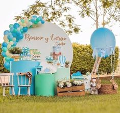 Baby Shower Decorations For Boys, Baby Shower Themes, Baby Boy Shower, Bunny Birthday Cake, Baby Boy 1st Birthday, Fun Party Themes, Birthday Party Decorations, Little Prince Party, Tropical Party