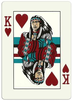 King of hearts Kickapoo Lucky Eagle Casino cards King Of Hearts Card, Jack Of Spades, Heart Cards, Art Design, Deck Of Cards, Abstract Art, Playing Cards, Eagle, Retro