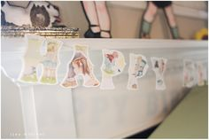 Sweet Happy Birthday Banner (cut out of golden book pages on the cricut)
