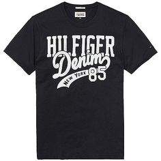 Stylisches Hilfiger Denim Baumwoll T-Shirt mit Rundhalsausschnitt und Logo Print auf der Vorderseite.100% Baumwolle...