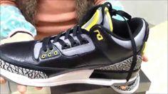 f39aadcec079e0 Authentic Air Jordan 3 Oregon Ducks Black