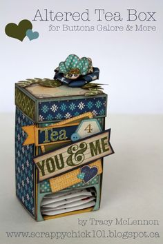 Altered Tea Box Scrapbooking
