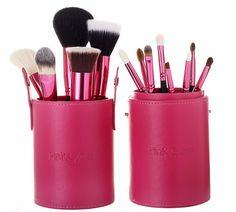 Kit 13 pincéis profissionais - Amazing Pink (2a edição). Adquira o produto em ate 12x com seguranca e conforto. Qualidade garantida.