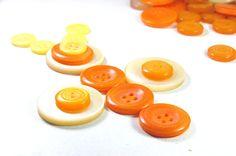lot of 100+  vintage yellow ivory orange  buttons vintage craft supply vintage buttons yellow decor  yellow decoration fine motor skills